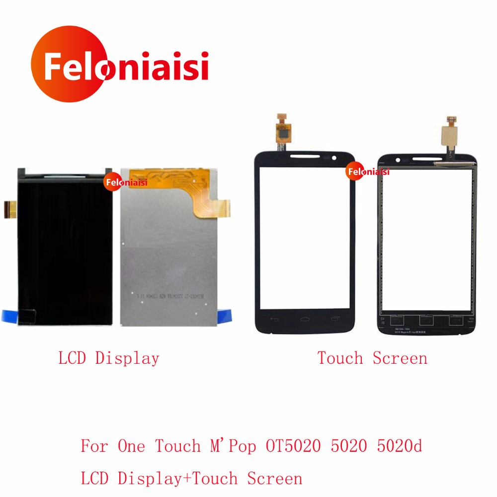 10 Adet/grup Alcatel One Touch M&39;Pop OT5020 Için 4.0 &39;&39; 5020 OT5020 5020D OT-5020 Ile Lcd Ekran Dokunmatik Ekran Digitizer Panel