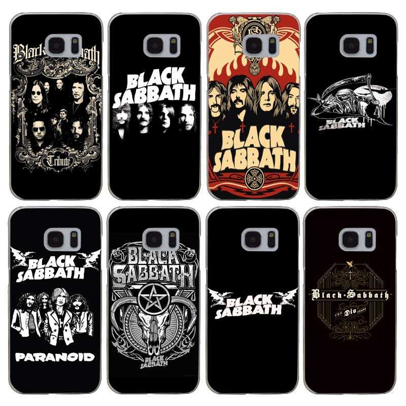 H051 Black Sabbath Şeffaf Sert PC Case Kapak Için Samsung Galaxy S 3 4 5 6 7 8 Mini Kenar Artı Not 3 4 5 8
