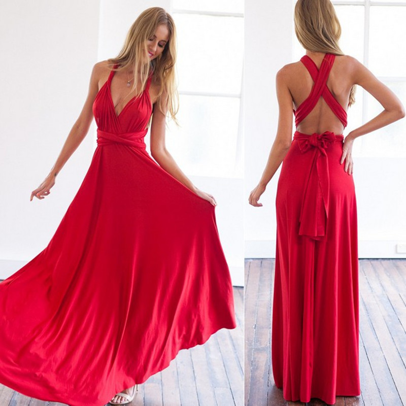 Seksi backless askı sashes dress parti zarif kat-uzunluk dress kadınlar v yaka yaz dress vestidos