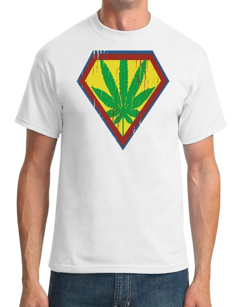 Superweed-Narcotic Superhero-Mens T-Shirt